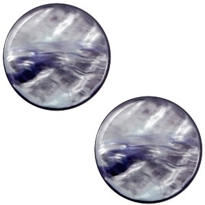 Cabochon 20mm parelmoer montana blue