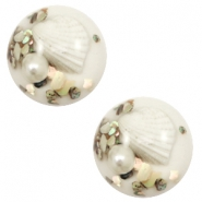 Cabochon 20mm schelp white