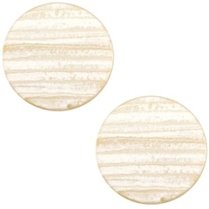 Cabochon 20mm sparkle dust almond brown