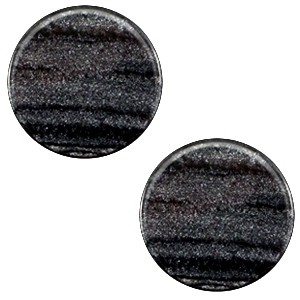 Cabochon 20mm sparkle dust anthracite black