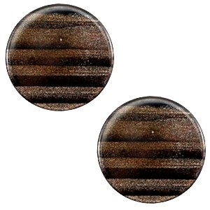 Cabochon 20mm sparkle dust dark brown