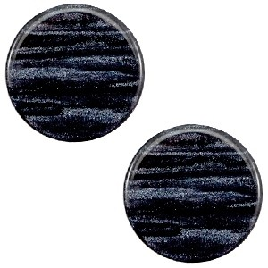 Cabochon 20mm sparkle dust indigo blue