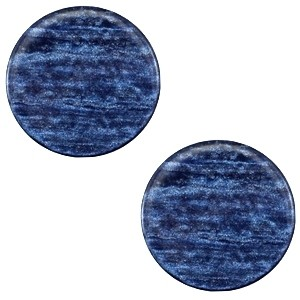 Cabochon 20mm sparkle dust montana blue