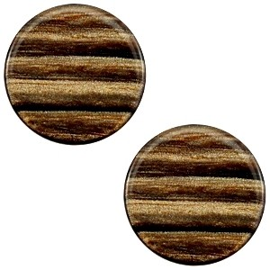 Cabochon 20mm sparkle dust smoke topaz
