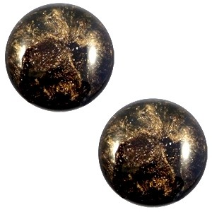 Cabochon 20mm stardust dark brown