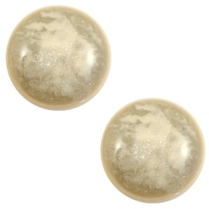 Cabochon 20mm stardust sand beige