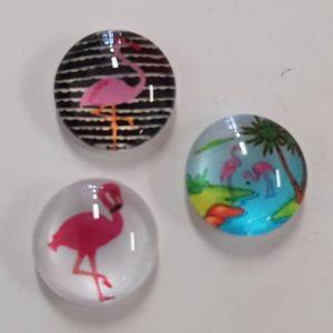 Cabochons 10mm flamingo mix 2.0