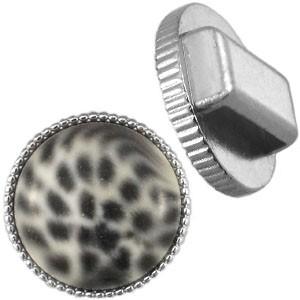 Cuoio schuiver 20mm vintage zilver