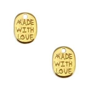 DQ bedel Handmade with love goud