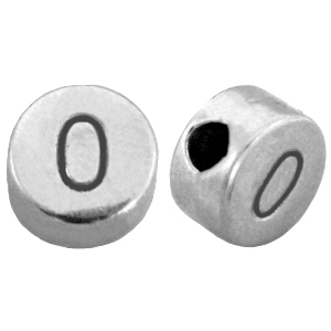DQ cijferkraal 0 zilver