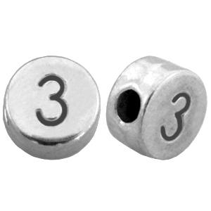 DQ cijferkraal 3 zilver