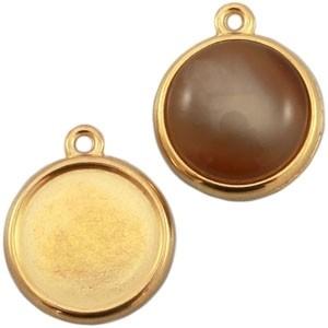 DQ hanger goud voor 12mm cabochon