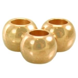 DQ kraal 4x5mm goud