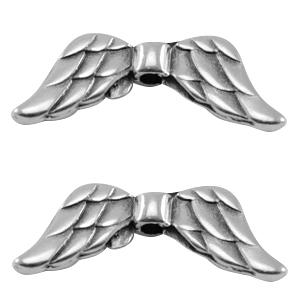 DQ kraal angel wings groot zilver