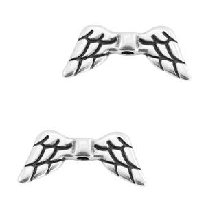 DQ kraal angel wings zilver