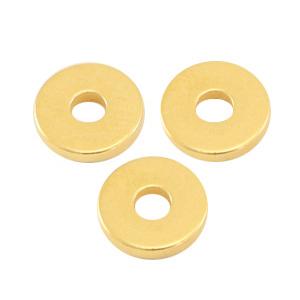 DQ kraal disc 6x1mm goud