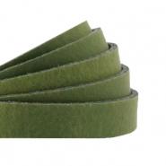 DQ plat leer 10mm soft guacamole green