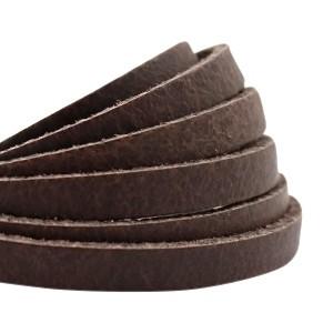 DQ plat leer 5mm dark brown