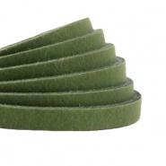 DQ plat leer 5mm guacamole green