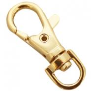 DQ sleutelhanger 38mm goud