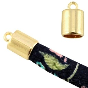 Eindkapje goud voor 5x4mm leer en koord