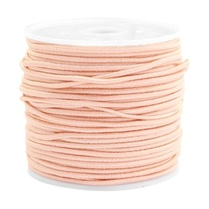 Elastiek 1.5mm pastel peach