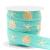 Elastisch Ibiza lint 15mm summer turquoise gold