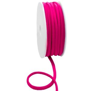 Elastisch Ibiza lint 5mm fuchsia pink