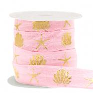 Elastisch ibiza lint 15mm summer vintage pink