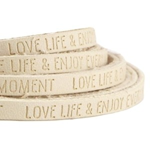 Imitatie leer 5mm love life beige
