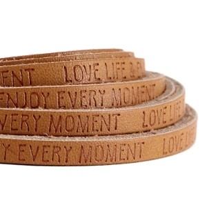 Imitatie leer 5mm love life cognac brown