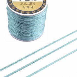 Imitatie zijden koord 1,5mm grijs blauw