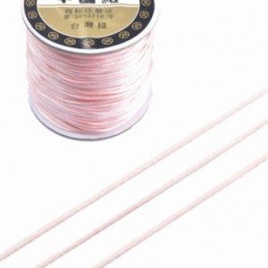 Imitatie zijden koord 1,5mm roze