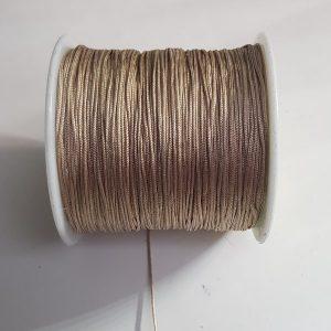 Macramé draad 0.8mm beige bruin