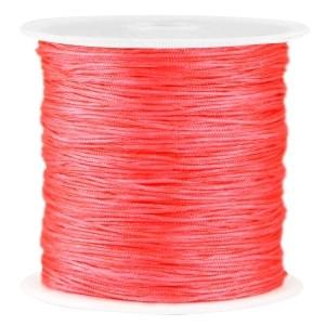 Macramé draad 0.8mm neon roze rood