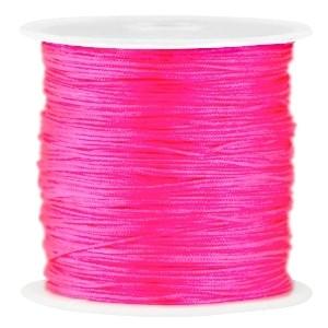 Macramé draad 0.8mm neon roze