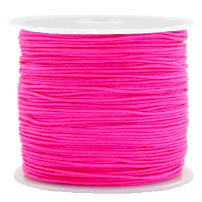 Macramé draad fuchsia pink