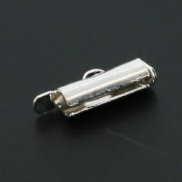 Miyuki eindkapje 12mm zilver
