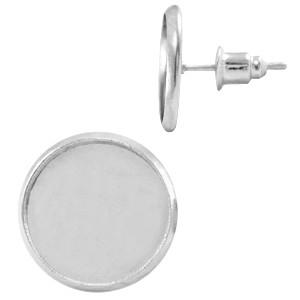 Oorbellen steker zilver voor 12mm cabochon