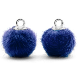 Pompom bedel denim blue silver