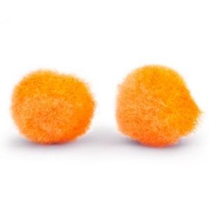 Pompoms 15mm tangerine orange