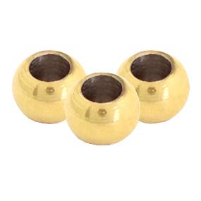 RVS kraal 6mm goud