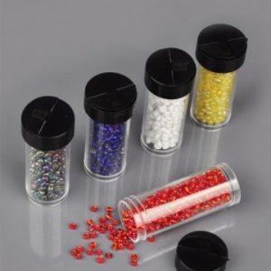 Rocailles 3mm mix in kunststof flesjes