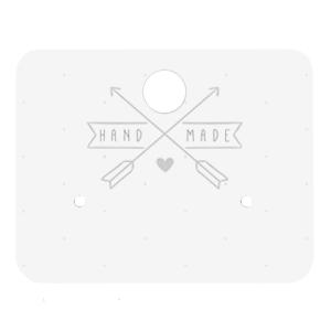 Sieradenkaartje oorbellen handmade
