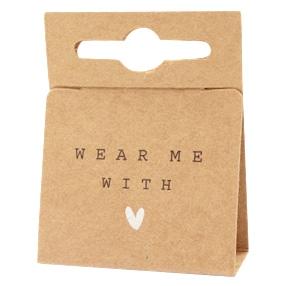 Sieradenkaartje wear me with love