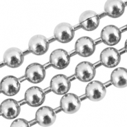 Stainless steel ball chain 2mm zilver