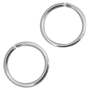 Stainless steel buigringen 4mm zilver