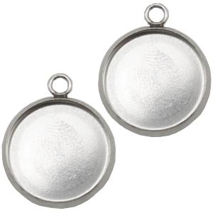 Stainless steel hanger zilver voor 20mm cabochons