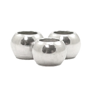 Stainless steel kraal 2mm zilver