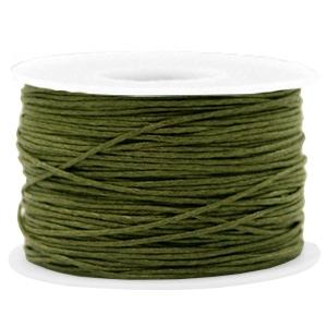 Waxkoord 1mm army green